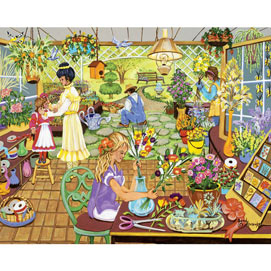 The Flower Shop 500 Large Piece Jigsaw Puzzle