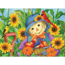 October Scarecrow 300 Large Piece Jigsaw Puzzle