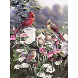 Cardinals And Babies 1000 Piece Jigsaw Puzzle