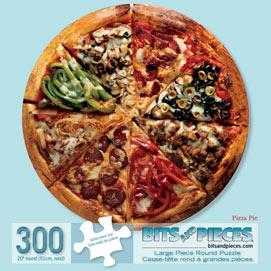 Pizza Pie 300 Large Piece Round Jigsaw Puzzle
