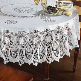 153cm x 264cm Faux Lace Tablecloth