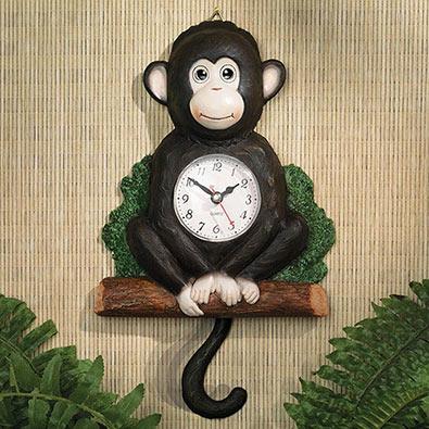 Moving Monkey Clock