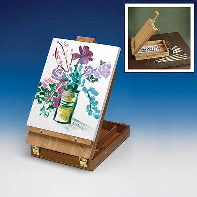 Portable Art Box With Easel