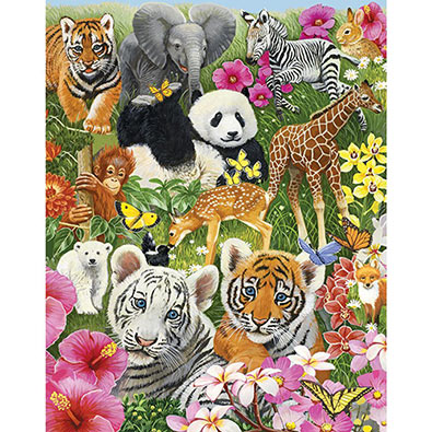 Animal Babies 100 Large Piece Jigsaw Puzzle