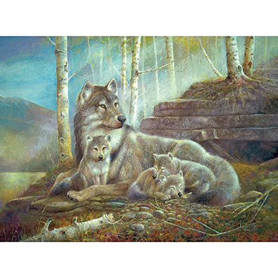 Watching Over The Pups 500 Piece Jigsaw Puzzle