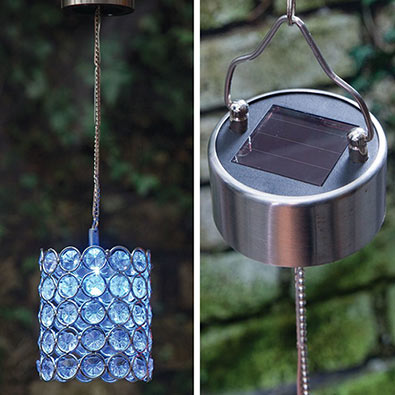 Solar Color-Changing Led Hanging Cylinder