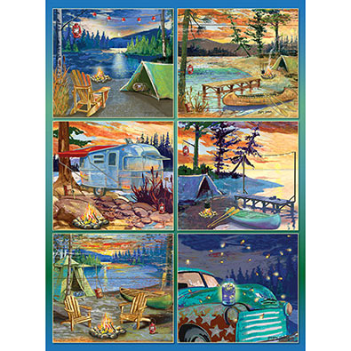 Camping Fun Quilt 500 Piece Jigsaw Puzzle