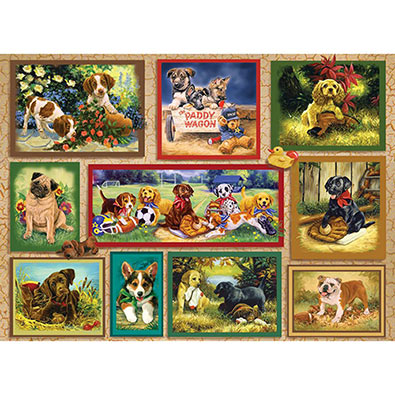 The Puppy Card 1500 Piece Jigsaw Puzzle