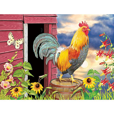 Barnyard Morning 300 Large Piece Jigsaw Puzzle