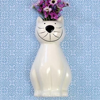 Whimsical Cat Vase