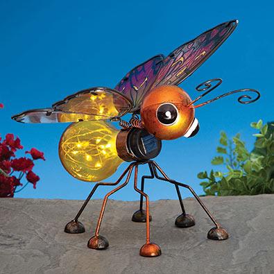 LED Solar Butterly Metal Garden Sculpture