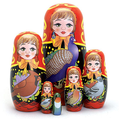 Bird Ladies Nesting Dolls