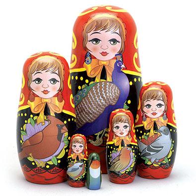 Bird Ladies Nesting Dolls