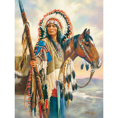 The Last Chief 500 Piece Native American Puzzle
