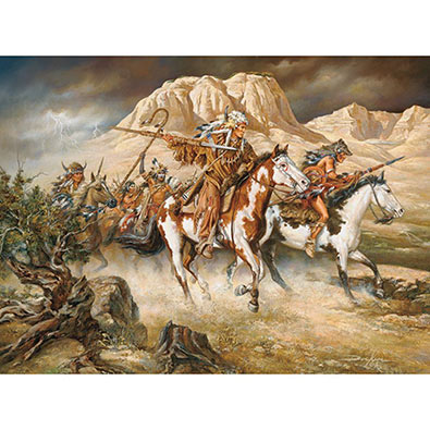 Thunder Rolls 300 Large Piece Native American Jigsaw Puzzle