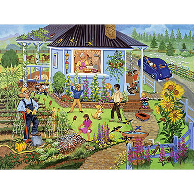 Family Garden 300 Large Piece Jigsaw Puzzle