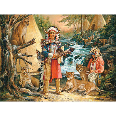 Honoring The Spirits 500 Piece Native American Jigsaw Puzzle