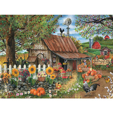 Bountiful Meadows Farm 1000 Piece Jigsaw Puzzle