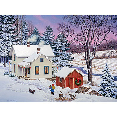 North Country Christmas 500 Piece Jigsaw Puzzle