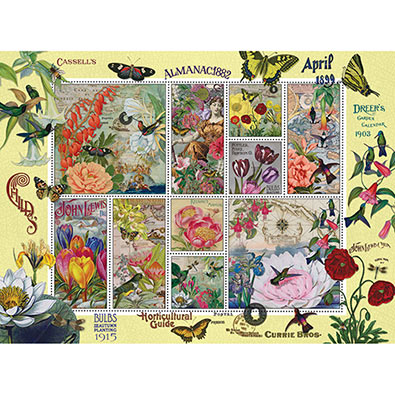 Flowers And Butterflies Quilt 1000 Piece Jigsaw Puzzle