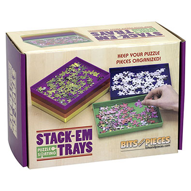 Stack-Em Sorting Trays Puzzle Caddy