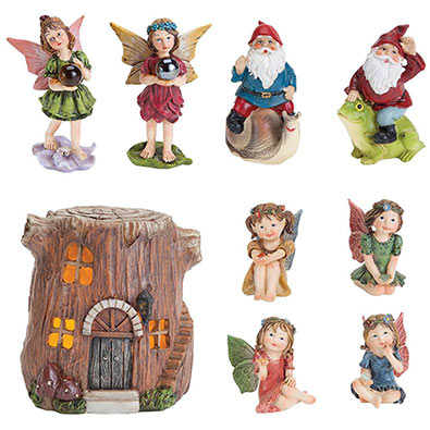Set of 4: Woodland Fairy Village