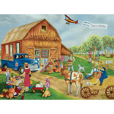 Apple Picking At Sunnyside Orchard 300 Large Piece Jigsaw Puzzle