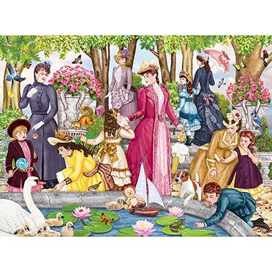 Aunt Josephine Visits The Park 300 Large Piece Jigsaw Puzzle