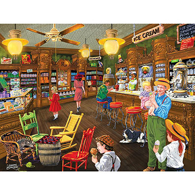 Ice Cream's Good Old Days 300 Large Piece Jigsaw Puzzle