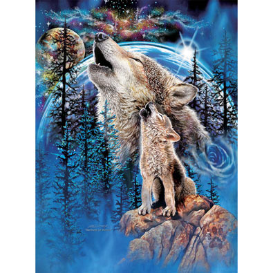 Wolves Harmony 500 Piece Jigsaw Puzzle