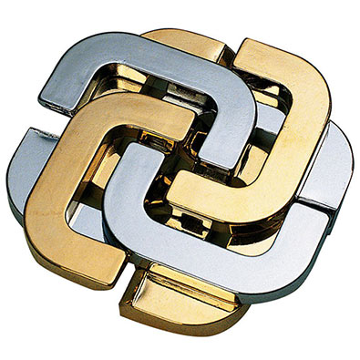 The Lucky Clover Metal Puzzle Brainteaser