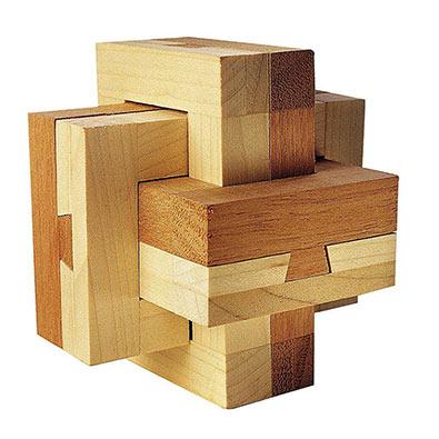 Dovetail Burr Wooden Brainteaser