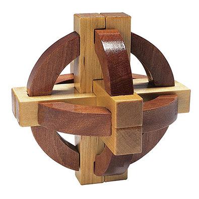 Satellite Wooden Brainteaser
