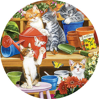 Garden Shed Kittens 300 Large Piece Jigsaw Puzzle