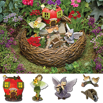 Basket Fairy Garden Kit