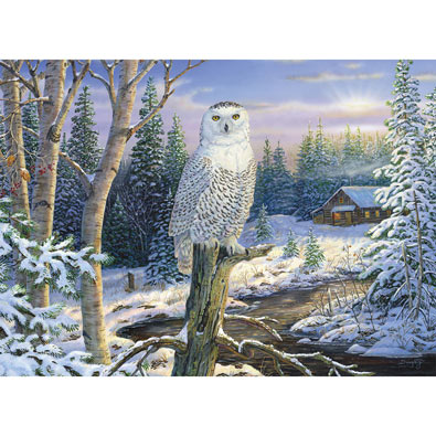 Whispering Ridge Snowy Owl 500 Piece Giant Jigsaw Puzzle