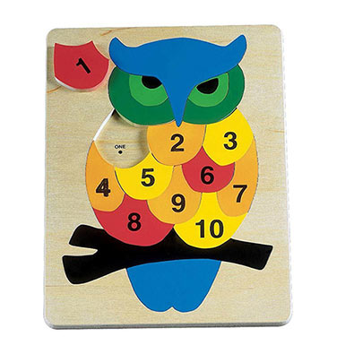 Counting Owl - Wooden Learning Puzzle