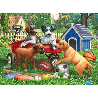 Sporty Pup Pal 500 Piece Jigsaw Puzzle