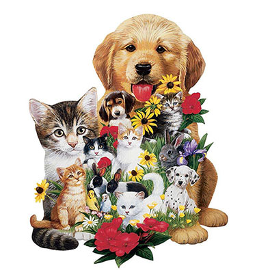 Best Friends 750 Piece Shaped Jigsaw Puzzle