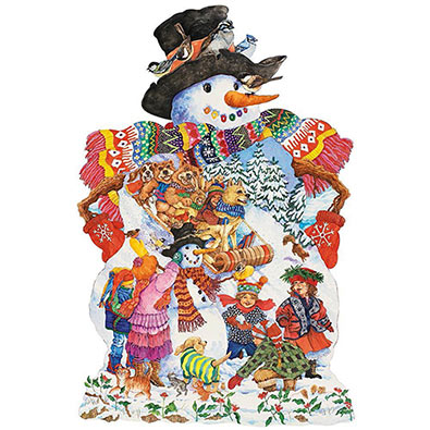 Snowy Friends 750 Piece Shaped Jigsaw Puzzle