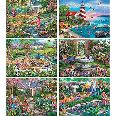 Set of 6: Mary Thompson 300 Large Piece Puzzles
