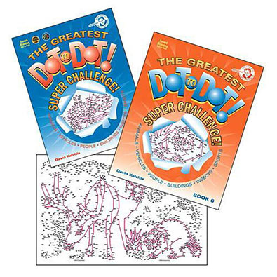 Set of 2 : The Greatest Dot-To-Dot Super Challenge Books 5 & 6