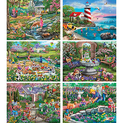 Set of 6: Mary Thompson 1000 Piece Puzzles