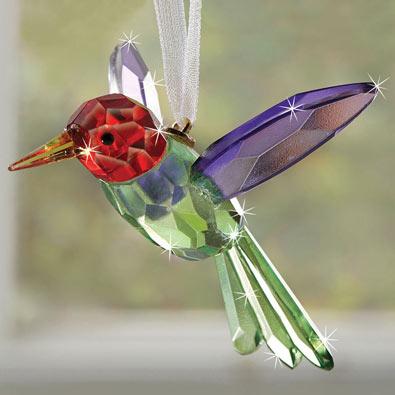 Crystal Hummingbird Suncatcher