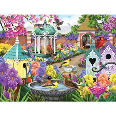 At Home In The Victorian Garden 300 Large Piece Jigsaw Puzzle