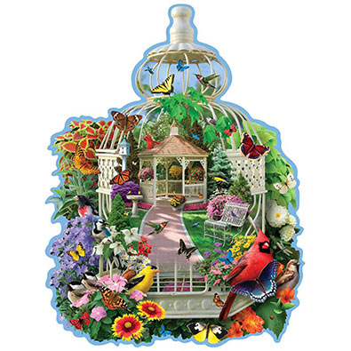 Birdcage Garden 300 Large Piece Shaped Jigsaw Puzzle