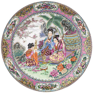Melodious Garden 300 Large Piece Round Jigsaw Puzzle