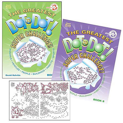 Set Of 2 : The Greatest Dot-To-Dot Super Challenge Books 7 & 8