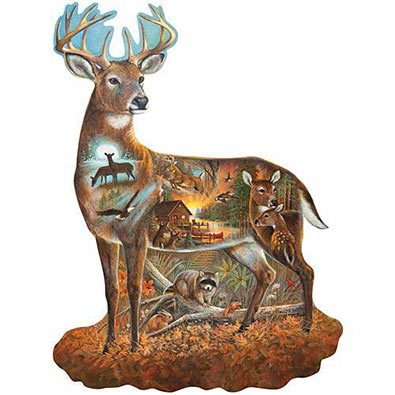 In All His Glory 300 Large Piece Shaped Jigsaw Puzzle