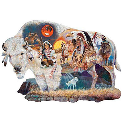Legend Of The White Buffalo 750 Piece Shaped Jigsaw Puzzle